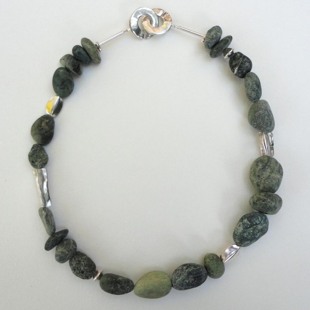 Agia Pelagia Green stones necklace