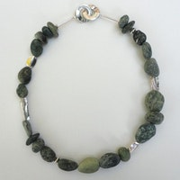 Agia Pelagia Green stones necklace