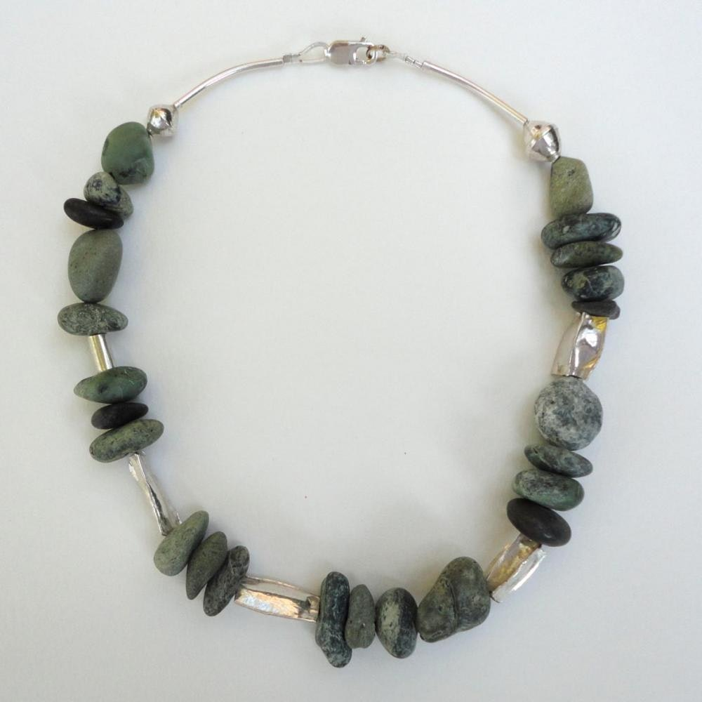 Agia Pelagia green stone and silver 2