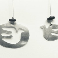 Dove shaped earrings