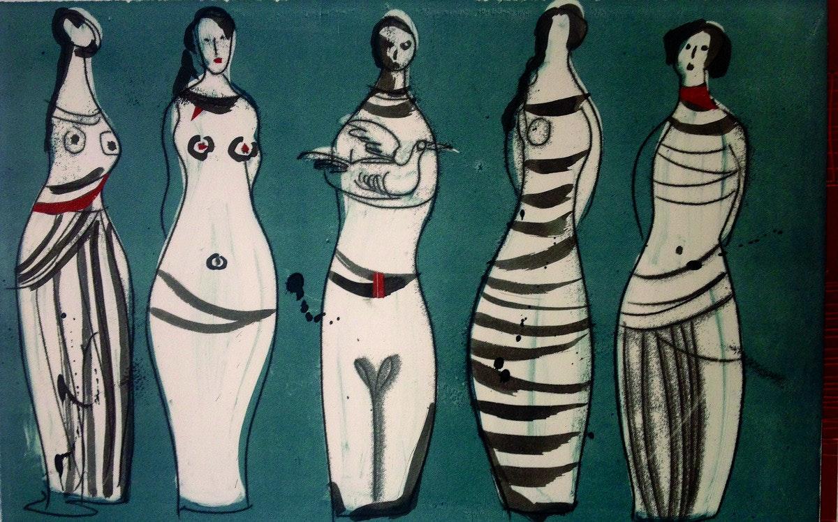 5 Cycladic women