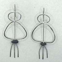 Silver Line earings II