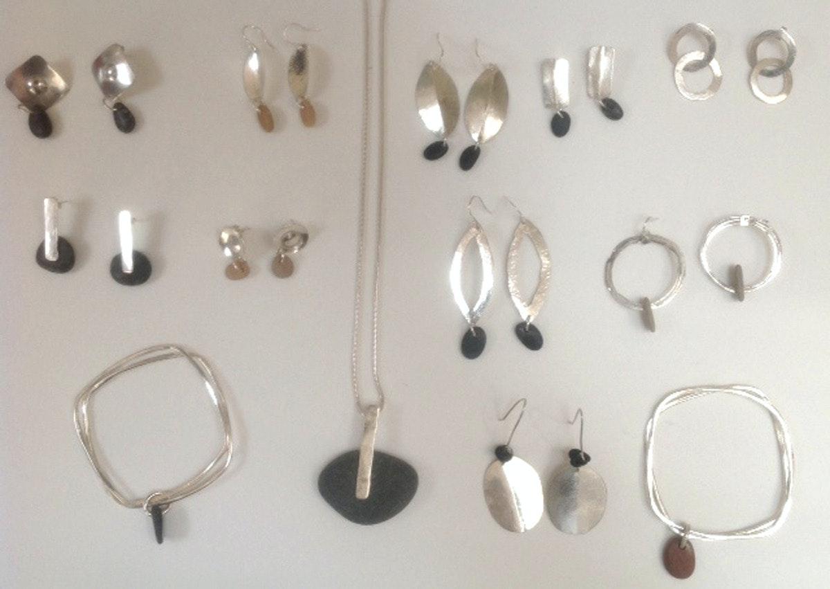 Earings and bracelets