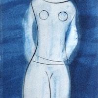 Nabatean Woman Blue