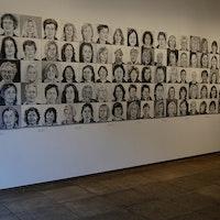 100 women, oil  on canvas