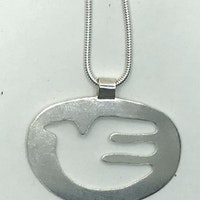 Dove shaped pendant