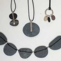 Slate necklace and pendants